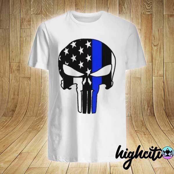 Awesome us police flag thin blue line shirt