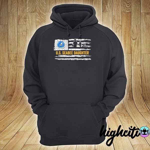 Awesome usa american flag proud us seabee daughter military hoodie