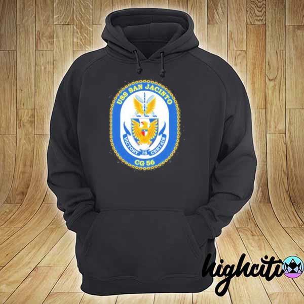 Awesome uss san jacinto victory is certain cg 56 hoodie