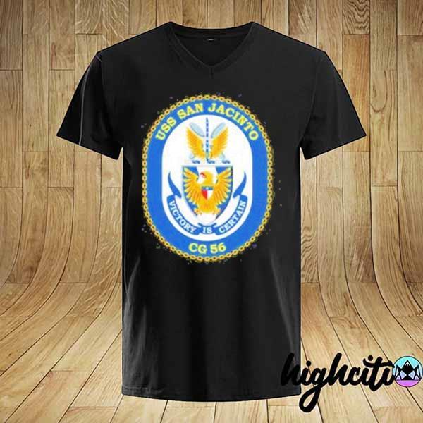 Awesome uss san jacinto victory is certain cg 56 shirt