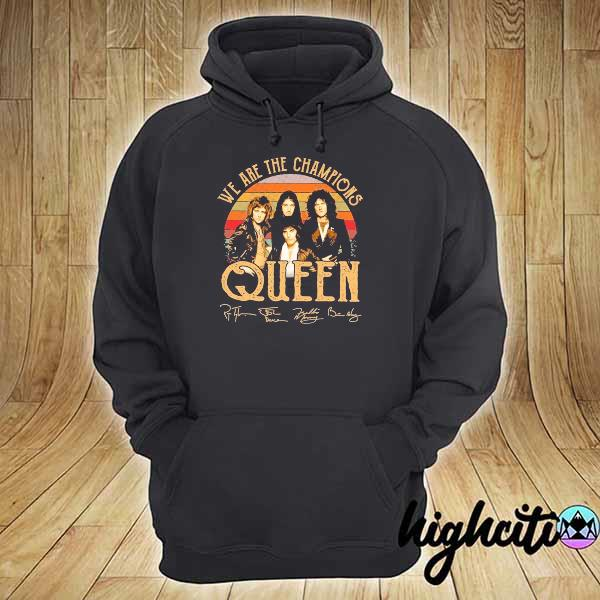 Awesome we are champions queen signatures vintage hoodie