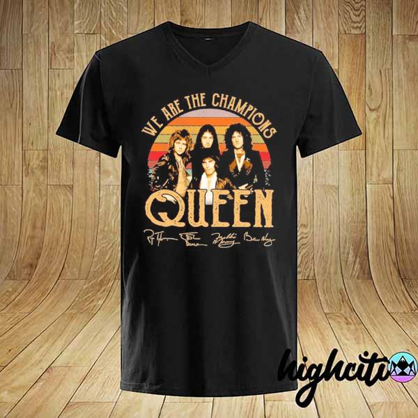 Awesome we are champions queen signatures vintage shirt