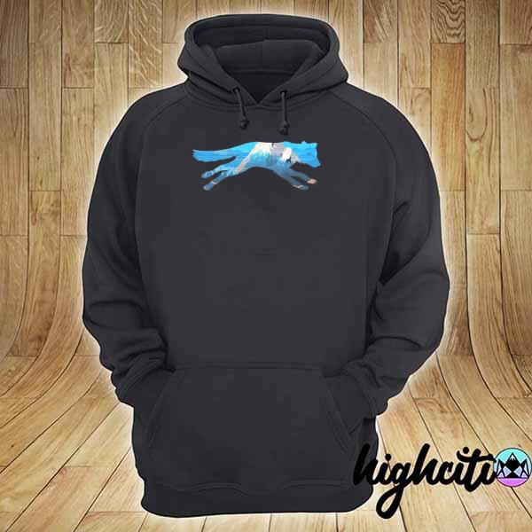 Awesome wolf scenic mountain silhouette hoodie