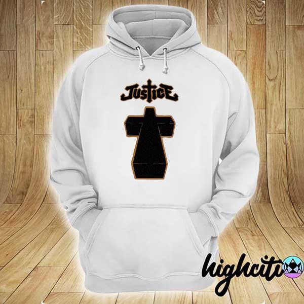 Justice cross album cover hoodie