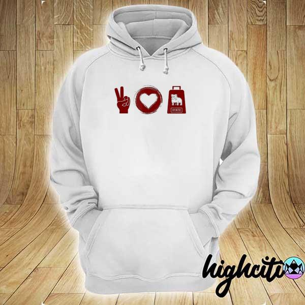 Peace love cowbell mississippI game day hoodie