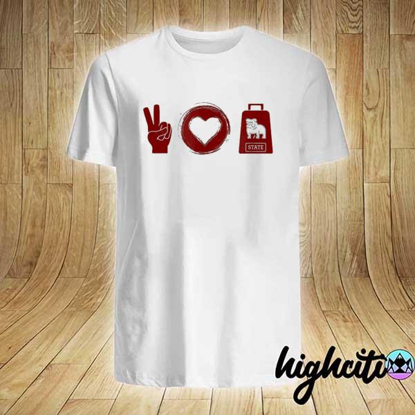Peace love cowbell mississippI game day shirt