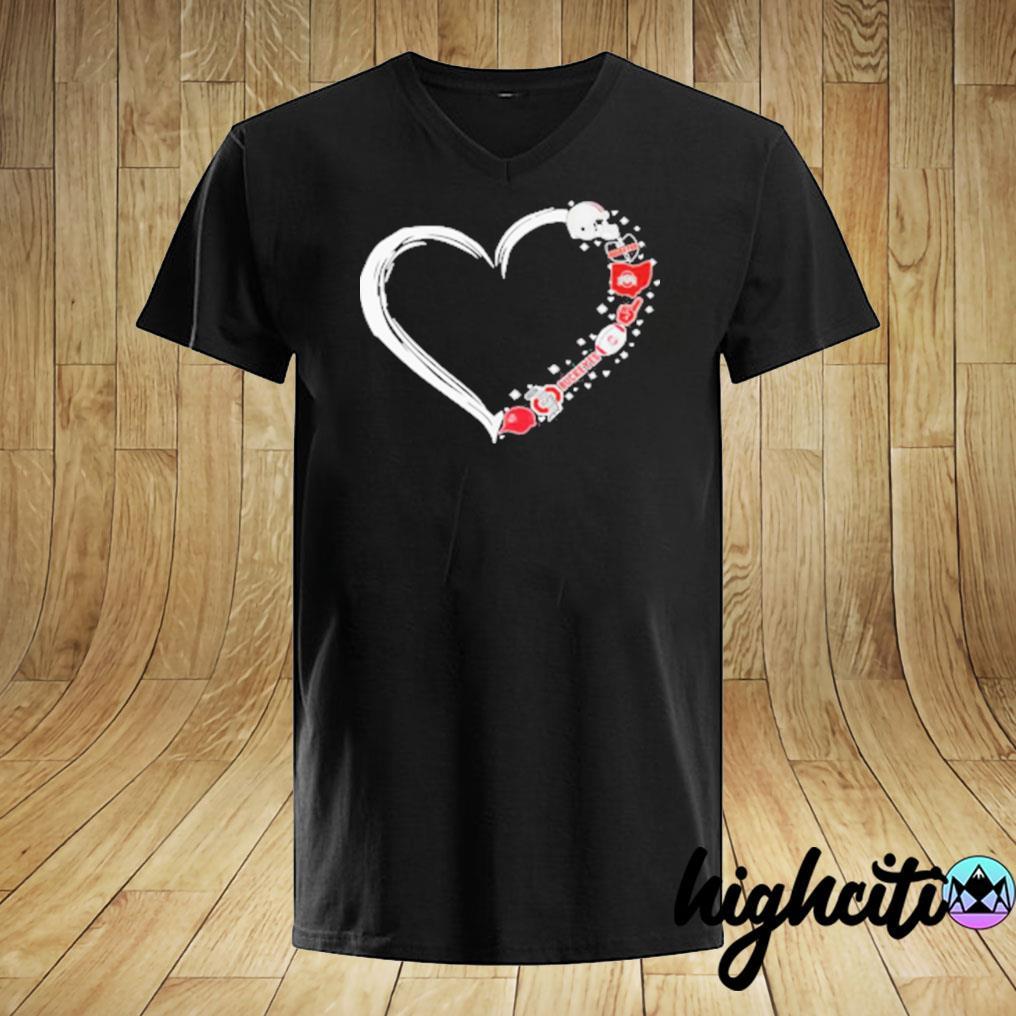 Ohio State Buckeyes Football Hearts T-shirt