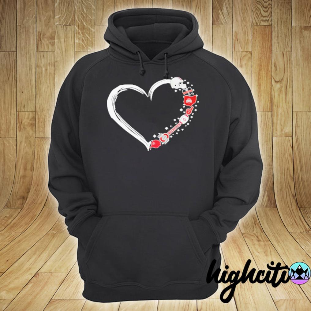 Ohio State Buckeyes Football Hearts T-s hoodie