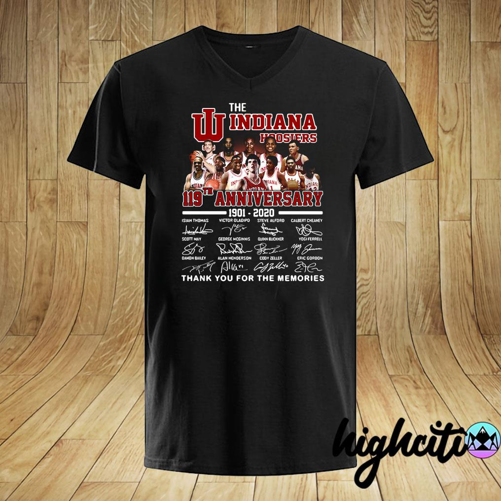The Indiana Hoosiers 119th Anniversary 1901-2020 Signatures Thank You For The Memories Shirt