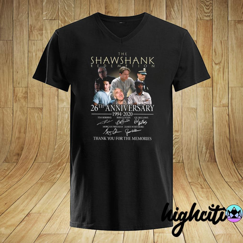 The Shawshank Redemption 26th Anniversary 1994-2020 Signatures Thank You For The Memories Shirt