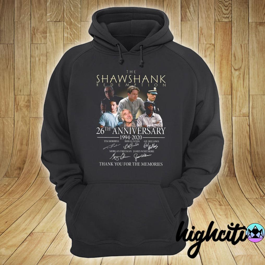 The Shawshank Redemption 26th Anniversary 1994-2020 Signatures Thank You For The Memories Shirt hoodie