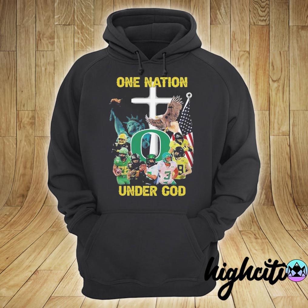 Oregon Ducks One Nation Under God Shirt hoodie