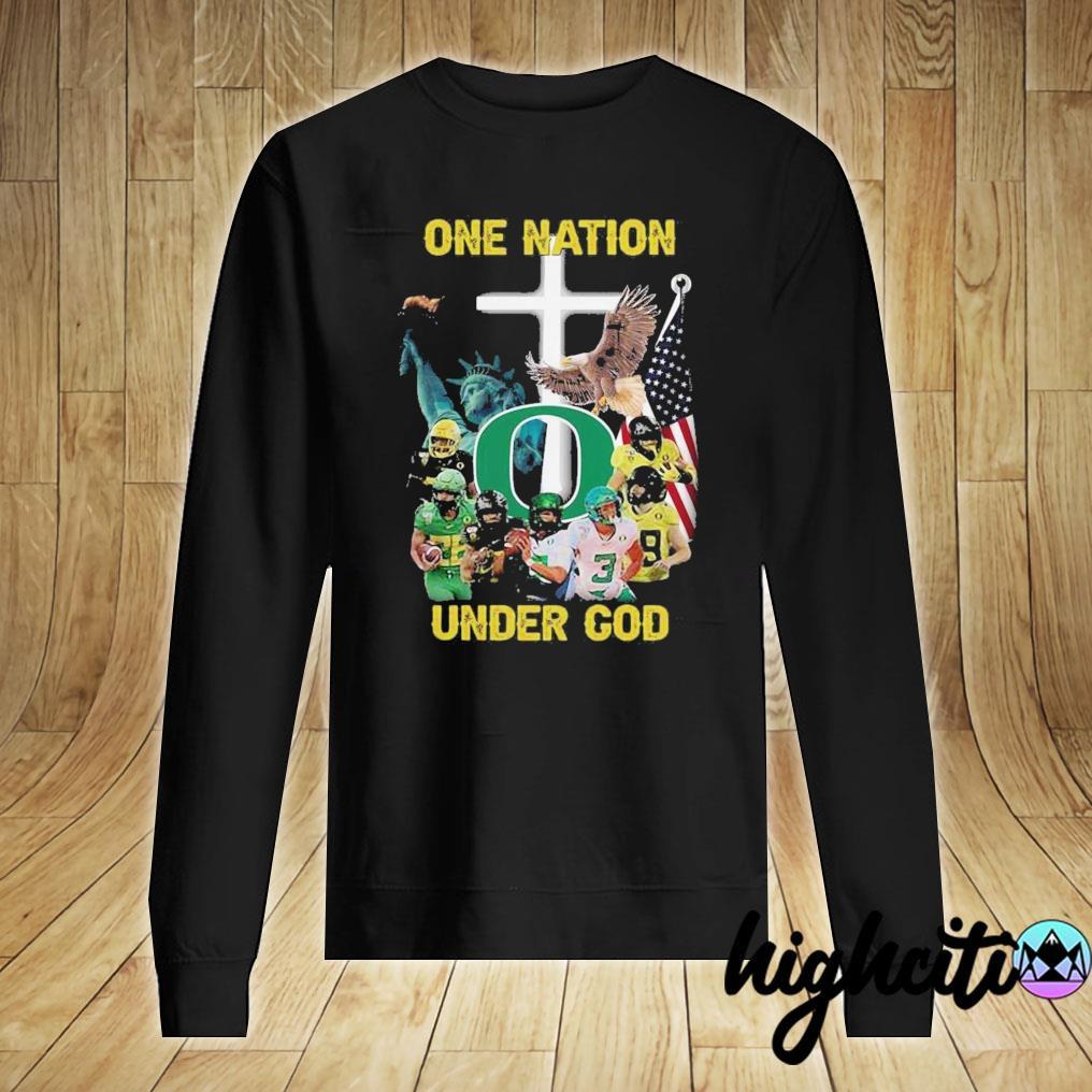 Oregon Ducks One Nation Under God Shirt Sweater