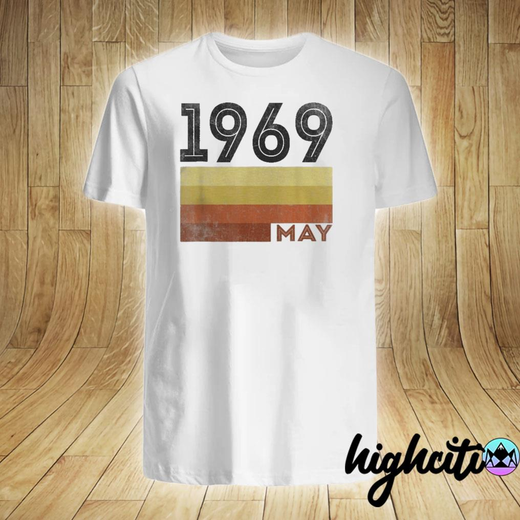May 1969 T Shirt 50 Year Old Shirt 1969 Birthday Gift