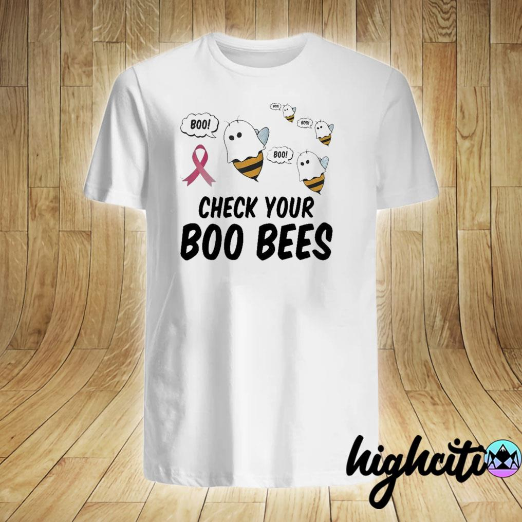 Breast Cancer Shirt Women Funny Check Your Boo Bees Shirt