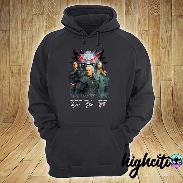 The Witcher Anya Chalotra Henry Cavill Freya Allan Signatures Shirt hoodie