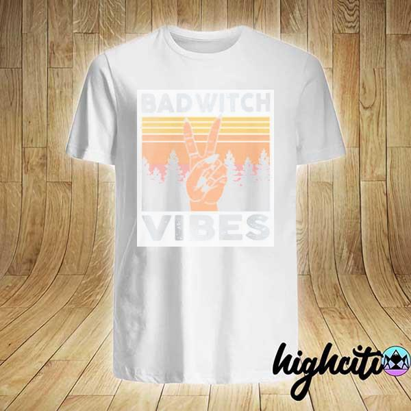 Official Bad Witch Vibes Vintage Shirt