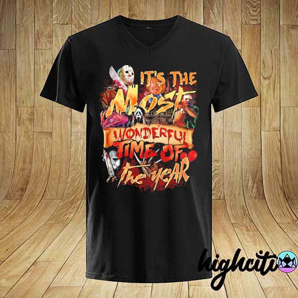 It's The Most Wonderful Time Of The Year Horror Movie Characters Halloween Shirt
