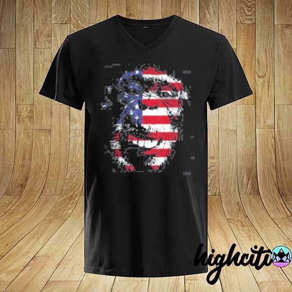 Monkey Chimpanzee Trump Biden USA Flag 2020 T-Shirt