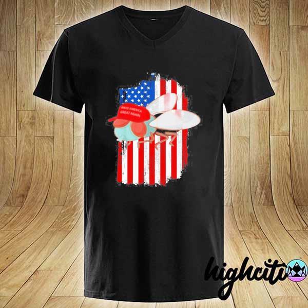 Mike Pence Fly Maga Trump 2020 Republican Democrat Shirt V-neck