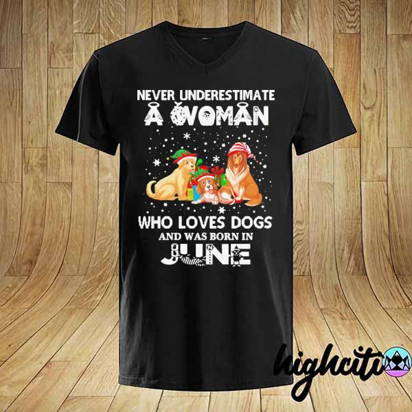 Never Understimate A Woman Who Loves Dogs And Was Born In June Shirt