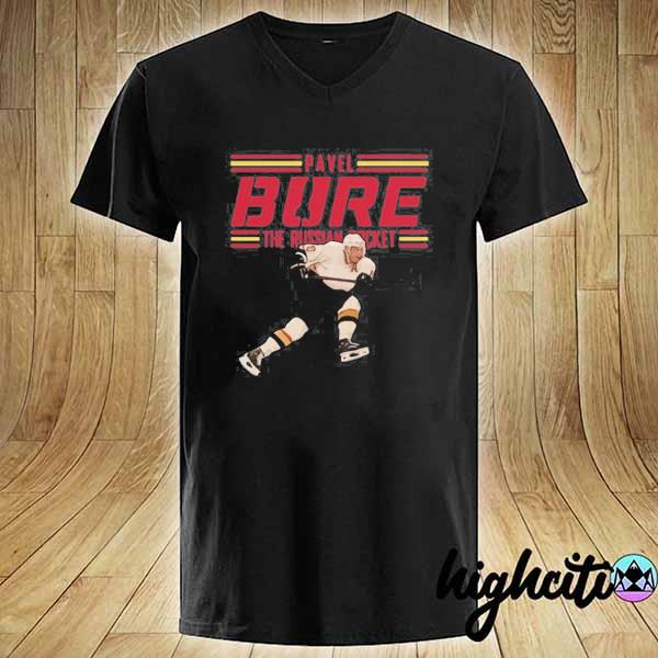 Nice Pavel Bure The Russian Rocket Play T-s V-neck