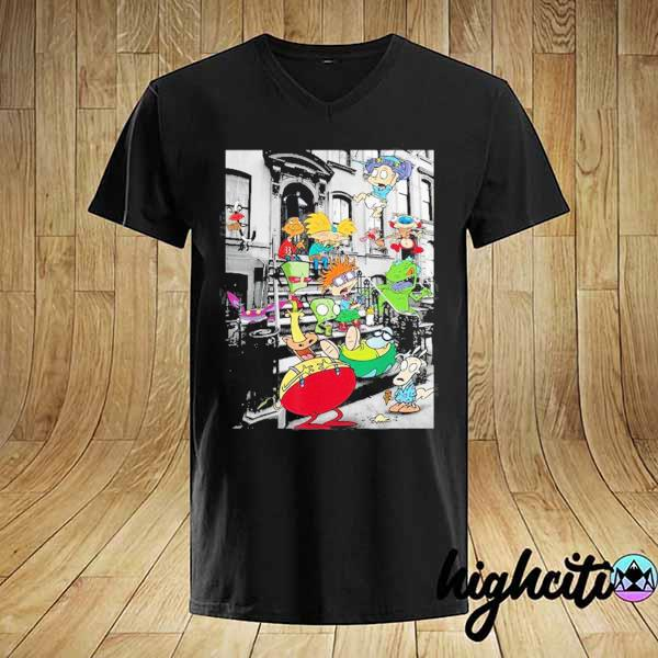 Nickelodeon Classic Nicktoons Hanging On Stoop 2020 T-shirt
