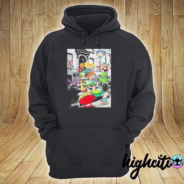 Nickelodeon Classic Nicktoons Hanging On Stoop 2020 T-s hoodie