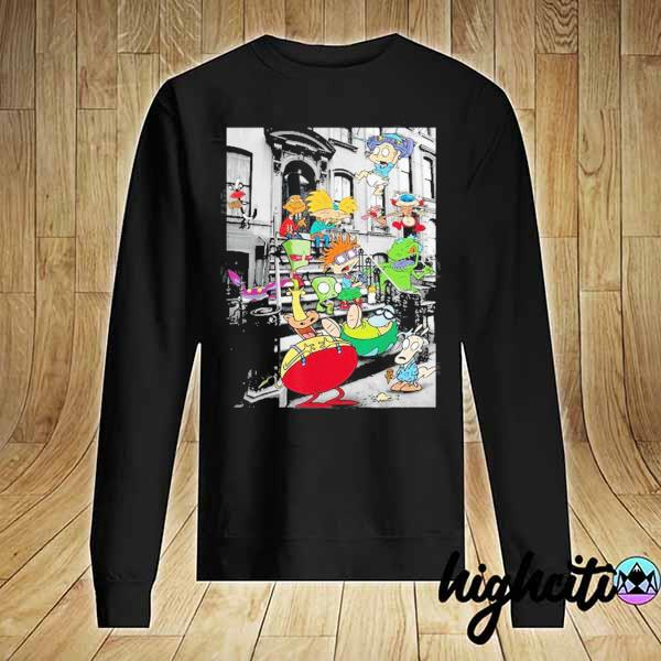 Nickelodeon Classic Nicktoons Hanging On Stoop 2020 T-s Sweater