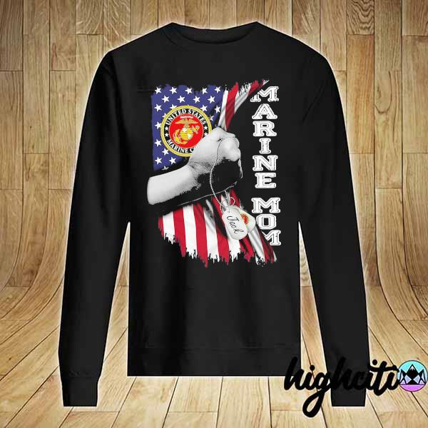 Awesome marine mom american flag sweats Sweater