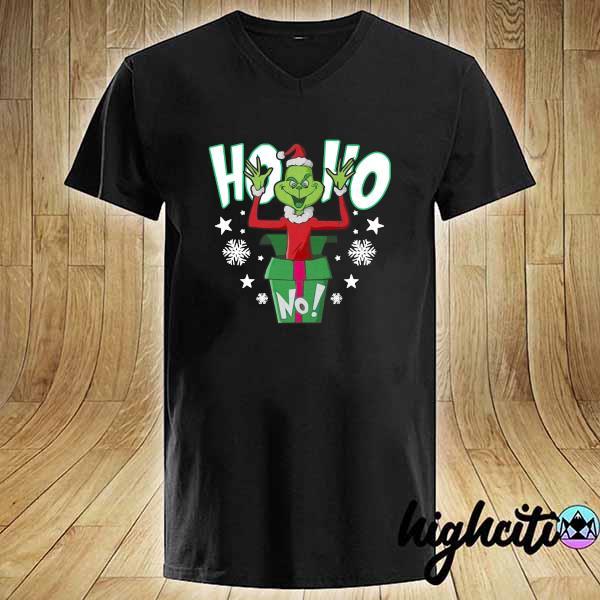 Premium ho ho christmas grinch sweats V-neck