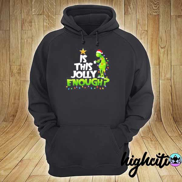 2020 grinch is this jolly enough noel merry christmas youth sweats hoodie