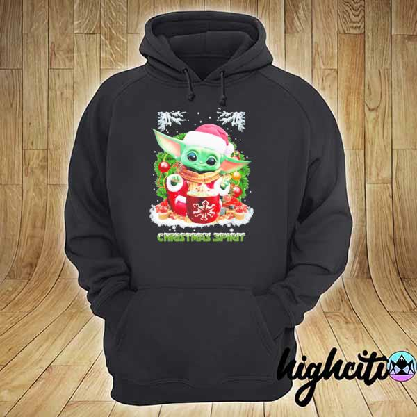 2020 merry christmas baby yoda spirit sweats hoodie