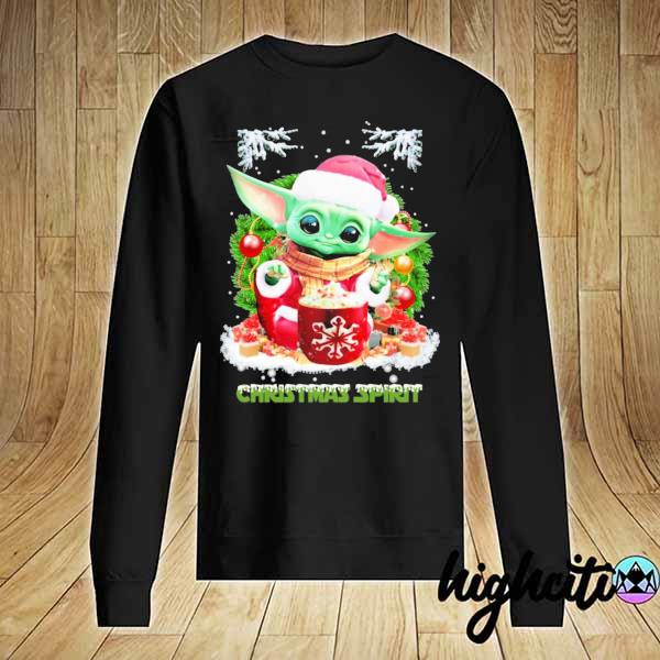 2020 merry christmas baby yoda spirit sweats Sweater