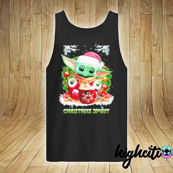 2020 merry christmas baby yoda spirit sweats tank-top