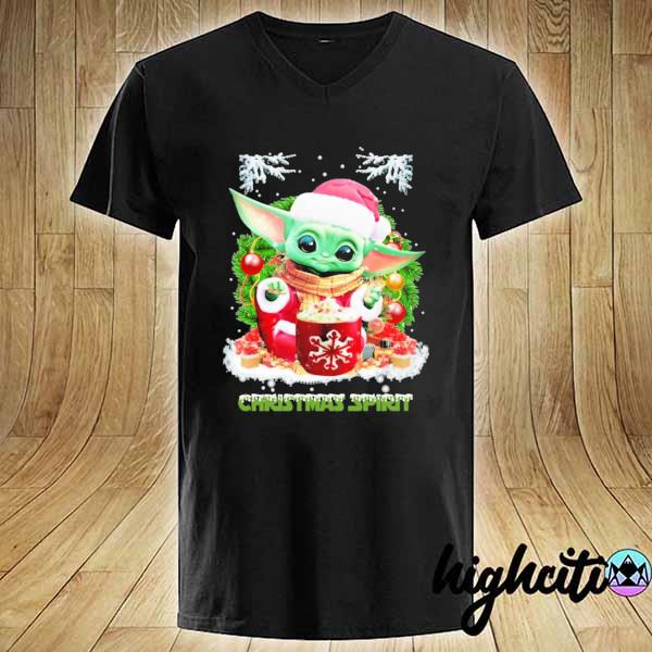2020 merry christmas baby yoda spirit sweats V-neck