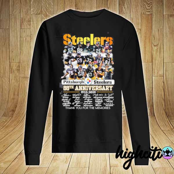 2020 pittsburgh steelers 88th anniversary 1933 - 2021 all players signatures thank you for the memories s Sweater