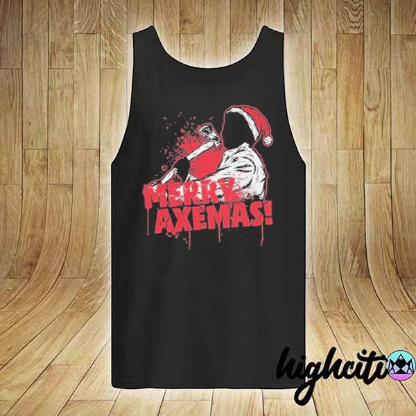 Premium merry axe-mas christmas sweats tank-top
