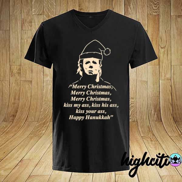 Premium michael myers merry christmas kiss my ass sweatshirt