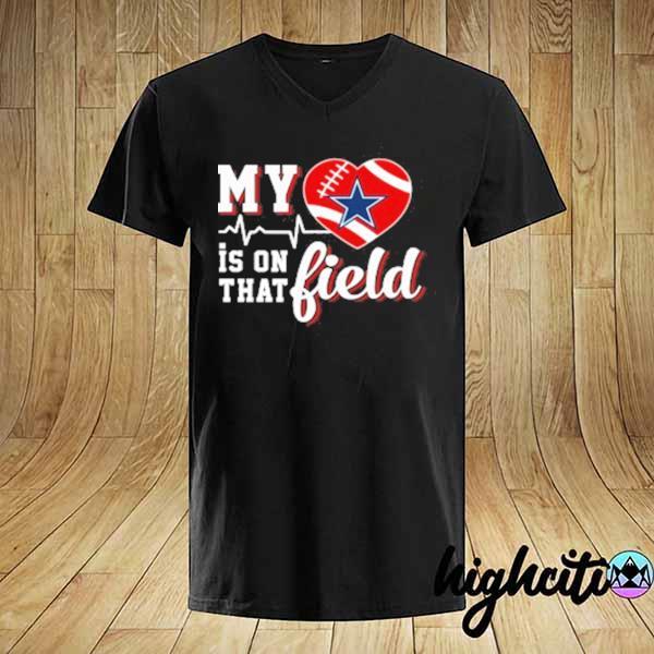 Premium nfl my heart is on that field football sports dallas cowboys sweatshirt