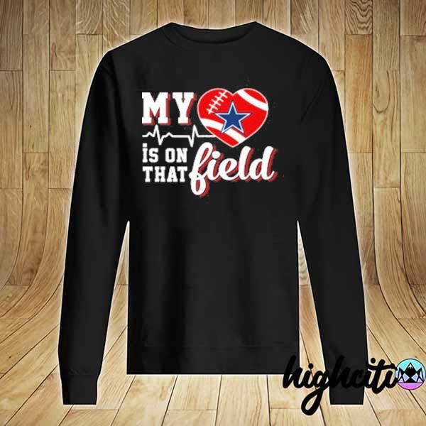 Premium nfl my heart is on that field football sports dallas cowboys sweats Sweater