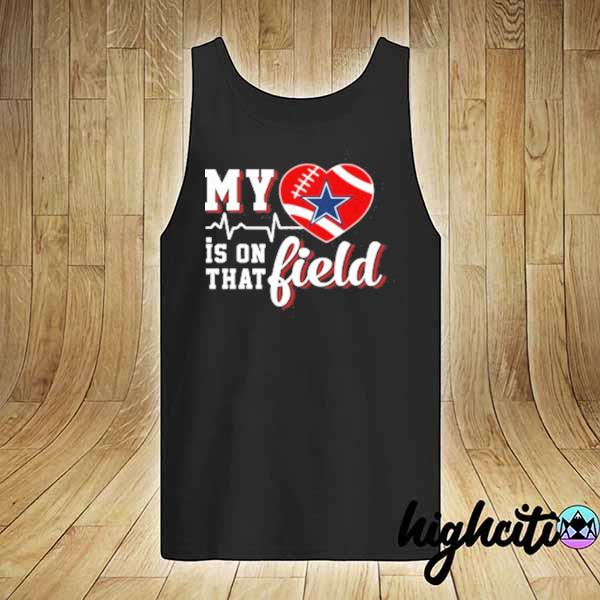 Premium nfl my heart is on that field football sports dallas cowboys sweats tank-top