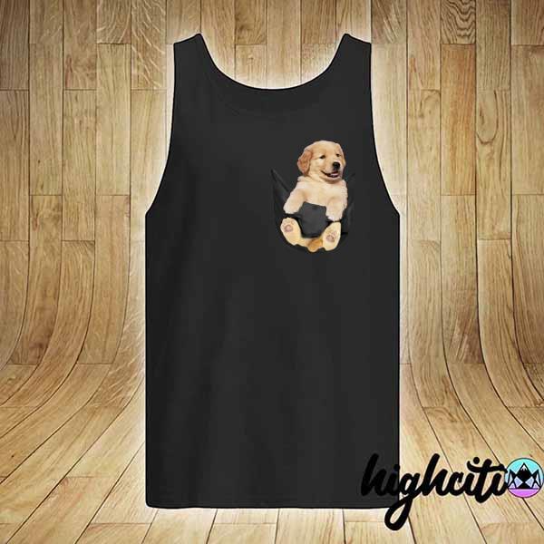 Premium puppy dog pocket sweats tank-top