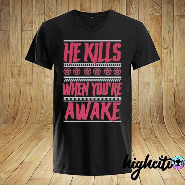 Premium richard ramirez he kills when you're awake ugly christmas sweatshirt