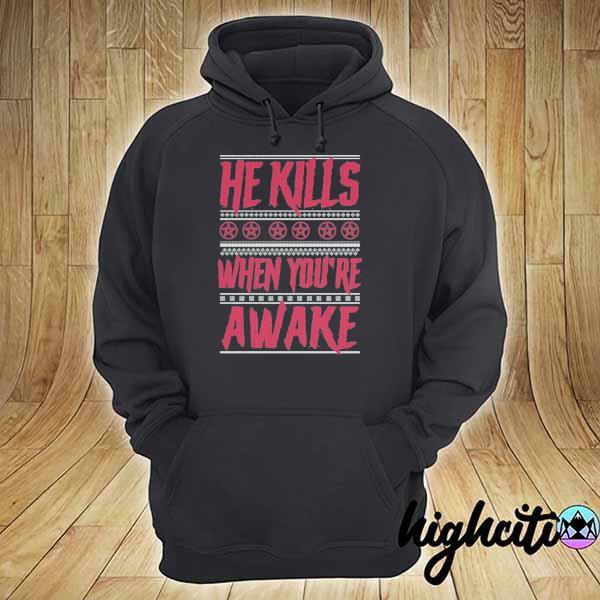 Premium richard ramirez he kills when you're awake ugly christmas sweats hoodie