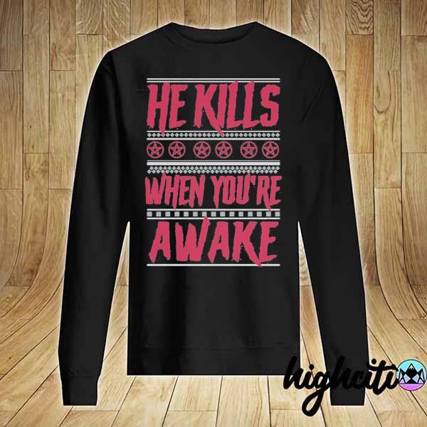 Premium richard ramirez he kills when you're awake ugly christmas sweats Sweater