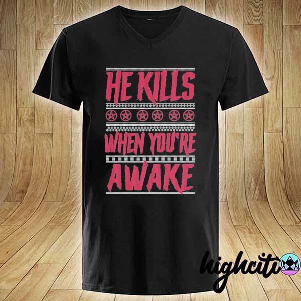 Premium richard ramirez he kills when you're awake ugly christmas sweats V-neck