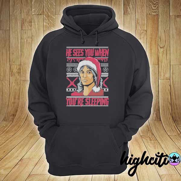 Premium richard ramirez he sees you when you're sleeping ugly christmas sweats hoodie