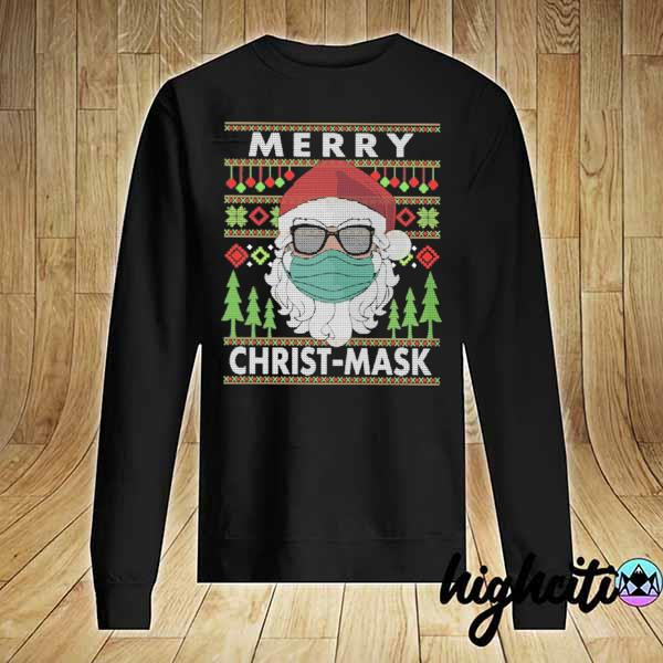 Premium santa claus face mask merry christ-mask xmas ugly sweats Sweater