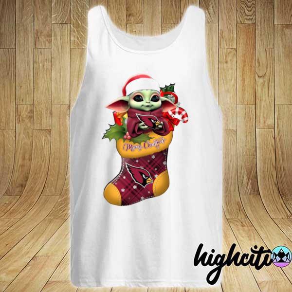 2020 baby yoda hug arizona cardinals ornament merry christmas 2020 s Tank-top